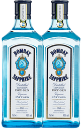 Rappicombo 2 Gin Bombay Saphire 750 mL