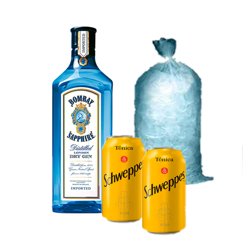 Combo Gin Bombay&Tônica Schweppes