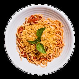 Espaguete Frango Desfiado