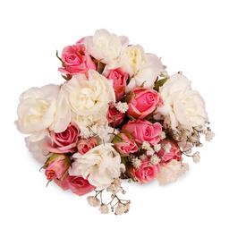 Buquê Amor Maior Com Flores Rosas E Brancas Pp