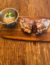 Calzoninho de Nutella com Sorvete de Baunilha