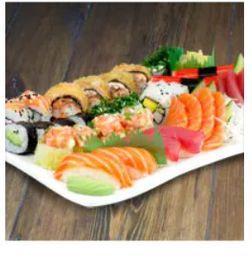 Sushi e Sashimi Variado - 2 Pessoas