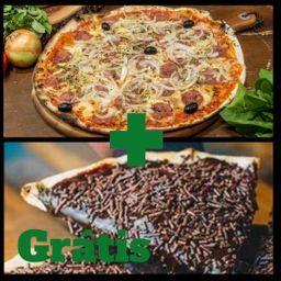 Combo Pizza de Calabresa e Chocolate