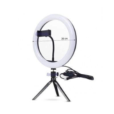 Luz De Mesa Ring Light Com Suporte Para Celular