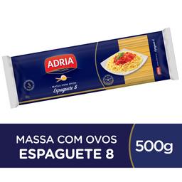 Adria Macarrão Espaguete N°8 Com Ovos