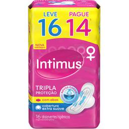 Absorvente Externo INTIMUS Tripla Proteção Suave c/Abas-16u