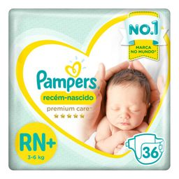 Pampers Fralda Premium Care Recem Nascido Tam Rn Ate 6 Kg Pac
