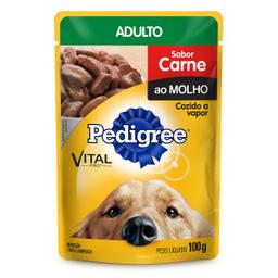 Ração Úmida Pedigree Sachê Carne ao Molho Cães Adultos 100 g