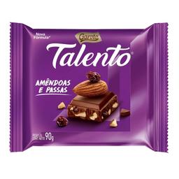 4% em 3 Unid Talento Chocolate Garoto Amêndoas E Passas