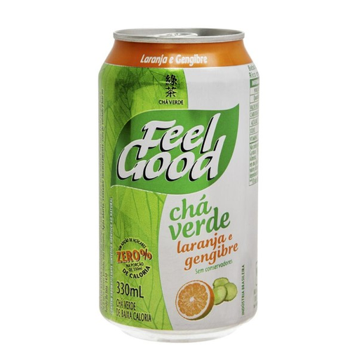 Chá Verde Feel Good com Laranja e Gengibre 330 mL