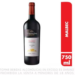 Terrazas Vinho Tinto Seco De Los Andes 2014 Malbec
