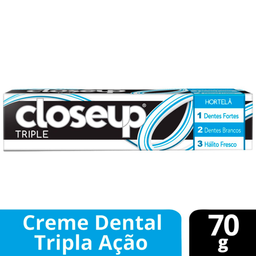 10% em 12 Unid Close Up Creme Dental Triple Hortela