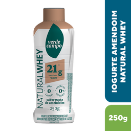 Verde Campo Iogurte Natural Whey 21 Pasta Amendoin