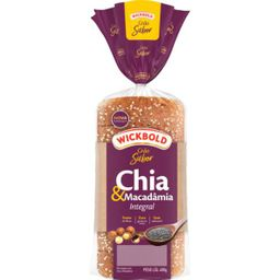Wickbold Pão De Forma Chia E Macadamia Grão Sabor