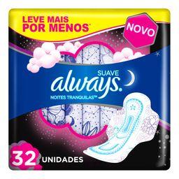 Always Absorvente Suave Pink Noturno Com Abas
