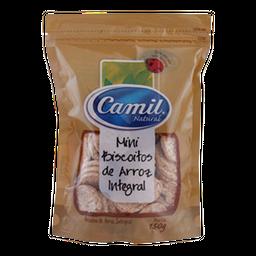 Camil Biscoitos de Arroz Mini Integral