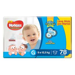 Fralda Huggies Turma Da Mônica Tripla Proteção Hiper G 78 Und