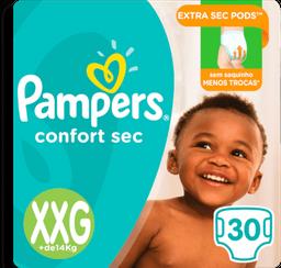 Fralda Pampers Confort Sec Mega Xxg 30 Und