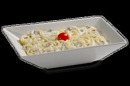 Frango com Spaghetti ao Molho Branco, Brócolis e Bacon