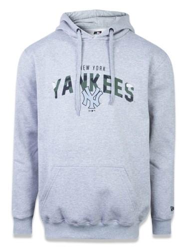 Moletom Plus Size Canguru Fechado New York Yankees Mlb New Era