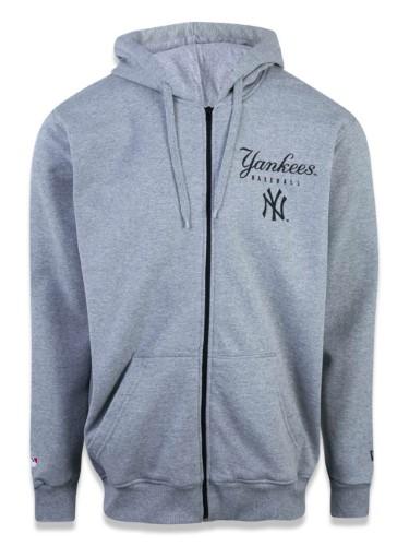 Moletom Plus Size Canguru Aberto New York Yankees Mlb New Era
