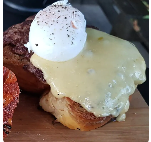 French Toast Burger Emmental Ovo Poche