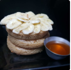 Pancake com Banana e Mel