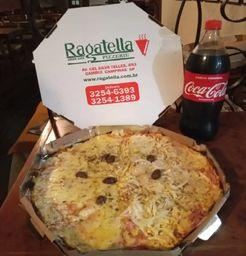 Mussarela/Portuguesa + Coca-Cola