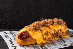 Combo hot dog cheddar melted
