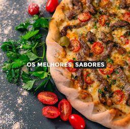 Pizza 3 Sabores Salgada - Gigante