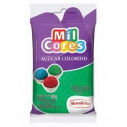 Açúcar Granulado Mil Cores Verde 80 g
