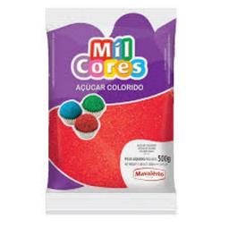 Açúcar Granulado Mil Cores Vermelho 80 g