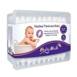 Cotonete Baby Bath Hastes Flexiveis Com 50 Und