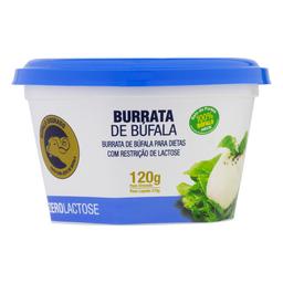 Queijo Burrata Sem Lactose Búfala Dourado 120 g
