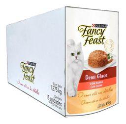 Ração Fancy Feats Demi Glace Carne Sachê 85 g