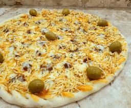 Pizza de Strogonoff com Batata Palha