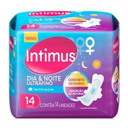 Absorvente Intimus Ultra Fino Com Abas Suave 14 Und