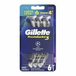 Aparelho Barbear Gillette Presto 3 Uefa Pg 4 Lv 6 Und