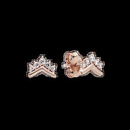 Brinco Pandora Rose™ Chevron Coroa Brilhante