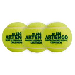 Conjunto De Bola De Tennis Tb 120 Ponto Verde 3 Und