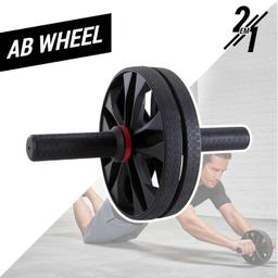 Roda 2 Em 1 Para Exercícios Abdominais Ab Wheel