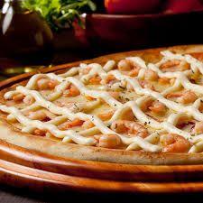 Pizza de Catupiry com Camarão