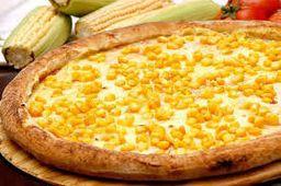 Pizza de Milho com Bacon