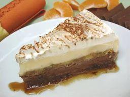 Torta de Sorvete Chocolate com Tangerina