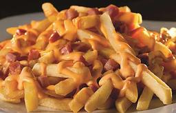 Batata Frita com Bacon e Queijo
