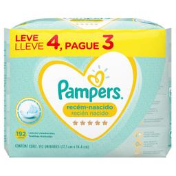 Lenço Umedecido Pampers Recem Nascido Com 48 Pague 3 Leve 4 Und