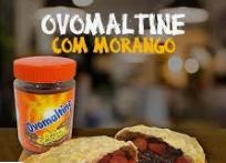 Pastel Doce Ovomaltine com Morango