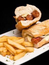 Sanduiche de Linguiça com Queijo