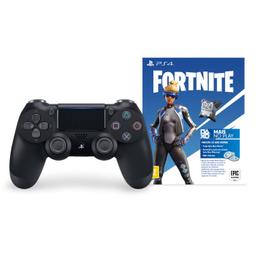 Controle Playstation Dualshock 4 Preto + Voucher Fortnite - Ps4