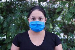Máscara TNT Com Elástico Azul Bebe